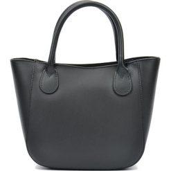 Torebki i plecaki damskie: Skórzanan torebka w kolorze czarnym – (S)20,5 x (W)29 x (G)9 cm