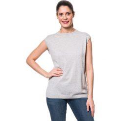 Koszulka w kolorze jasnoszarym. Szare bluzki damskie Mavi, xs, z okrągłym kołnierzem. W wyprzedaży za 85,95 zł.