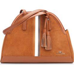 Torebka damska 87-4E-220-5. Brązowe torebki klasyczne damskie Wittchen, z materiału, zamszowe. Za 579,00 zł.