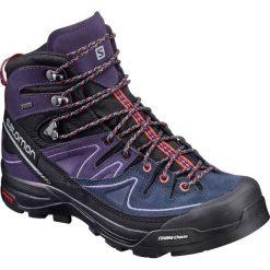 Buty trekkingowe damskie: Salomon Buty damskie X Alp Mid Ltr GTX W Black/Nightshade Grey/Crystal Punch r. 39 1/3 (391947)