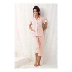Piżama Brenda 573 Morelowa. Pomarańczowe piżamy damskie Luna, z bawełny. Za 106,60 zł.