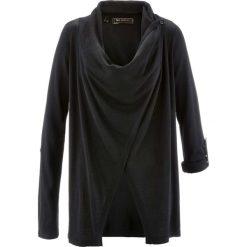 Sweter rozpinany bonprix czarny. Czarne kardigany damskie marki bonprix. Za 59,99 zł.