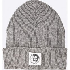 Diesel - Czapka. Szare czapki zimowe męskie Diesel, z bawełny. Za 229,90 zł.