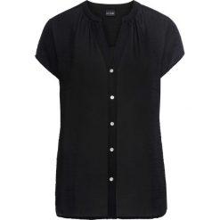 Bluzki asymetryczne: Bluzka szyfonowa bonprix czarny