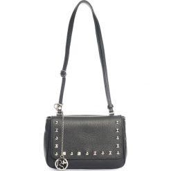 Torebki klasyczne damskie: Skórzana torebka w kolorze czarnym – 22 x 15 x 7 cm