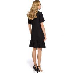 Sukienki hiszpanki: Sukienka z falbaną – czarna