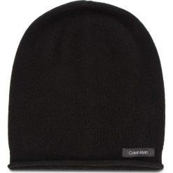Czapka CALVIN KLEIN - Cashmere Beanie K60K604716 001. Czarne czapki zimowe damskie Calvin Klein, z kaszmiru. Za 279,00 zł.