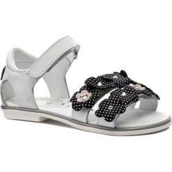 Sandały dziewczęce: Sandały BARTEK – 16168-Z14 Biały/Czarne Kwiatki