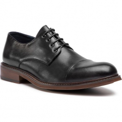 Półbuty WITTCHEN - 87-M-812-1 Czarny. Czarne buty wizytowe męskie Wittchen, z materiału. Za 449,00 zł.