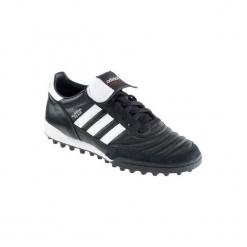 Buty do piłki nożnej Mundial Team turfy. Czarne buty skate męskie marki Adidas, ze skóry, do piłki nożnej. Za 329,99 zł.
