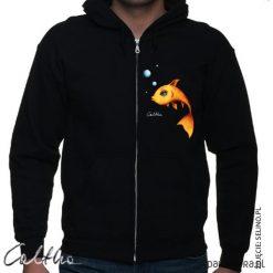Bluzy męskie: Złota rybka - bluza rozpinana unisex