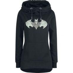 Bluzy rozpinane damskie: Batman Logo Bluza z kapturem damska czarny