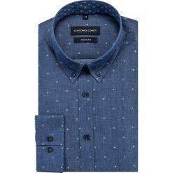 Koszula SIMONE KDGR000421. Niebieskie koszule męskie na spinki marki Giacomo Conti, m, z tkaniny, klasyczne. Za 169,00 zł.