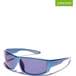Okulary przeciwsłoneczne męskie lustrzane: Okulary męskie w kolorze niebeiskim
