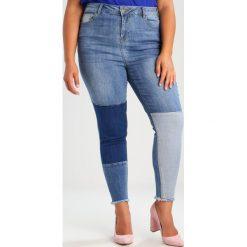 New Look Curves PATCH  Jeans Skinny Fit blue. Niebieskie jeansy damskie New Look Curves, z bawełny. W wyprzedaży za 135,20 zł.