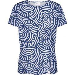 Colour Pleasure Koszulka damska CP-030 186 biało-niebieska r. XXXL/XXXXL. Bluzki asymetryczne Colour pleasure. Za 70,35 zł.