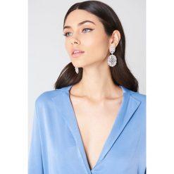 Kolczyki damskie: NA-KD Accessories Kolczyki ze sztucznymi perłami – Silver