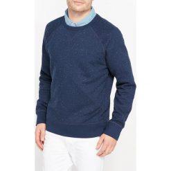 Fantazyjna bluza z okrągłym dekoltem. Niebieskie kardigany męskie La Redoute Collections, m, z bawełny, biznesowe, z okrągłym kołnierzem. Za 105,00 zł.