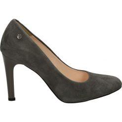 Czółenka - 5211 892 GRIG. Szare buty ślubne damskie Venezia, ze skóry. Za 199,00 zł.
