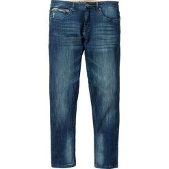 """Dżinsy ze stretchem Slim Fit Straight bonprix niebieski """"used"""". Niebieskie jeansy męskie regular bonprix, z jeansu. Za 109,99 zł."""