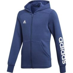 Bluzy damskie: Adidas Bluza adidas YG Linear FZ HD CF7238 CF7238 granatowy 128 cm - CF7238