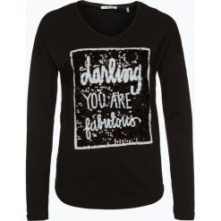 T-shirty damskie: Rich & Royal – Damska koszulka z długim rękawem, czarny
