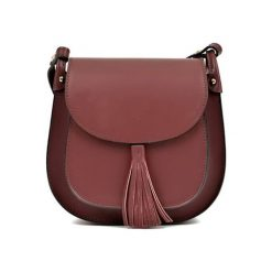 Torebka w kolorze bordowym - (S)24 x (W)22 x (G)6,5 cm. Brązowe torebki klasyczne damskie Bestsellers bags, w paski, z materiału. W wyprzedaży za 249,95 zł.