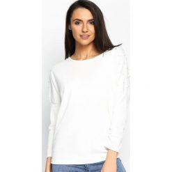 Biała Bluzka Your Way. Białe bluzki asymetryczne Born2be, s, z długim rękawem. Za 44,99 zł.