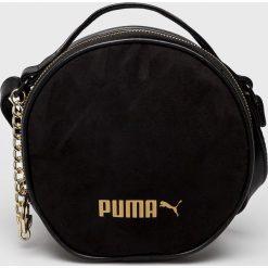 Puma - Torebka. Czarne torebki klasyczne damskie Puma, w paski, z materiału. W wyprzedaży za 159,90 zł.