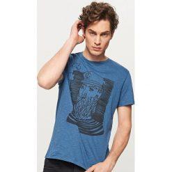 T-shirty męskie: T-shirt z żeglarskim motywem – Niebieski