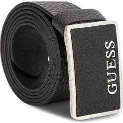 Pasek Męski GUESS - BM7075 LEA40  BLA. Czarne paski męskie Guess, z aplikacjami, ze skóry. Za 189,00 zł.