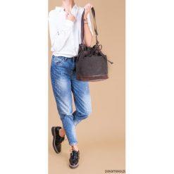YOCCA - torba worek - ciemnozielone khaki i brąz. Brązowe torebki klasyczne damskie Pakamera. Za 148,00 zł.