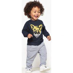 Komplet bluza + spodnie dresowe 1-36 mies. Niebieskie spodnie dresowe dziewczęce marki La Redoute Collections, z bawełny. Za 64,64 zł.