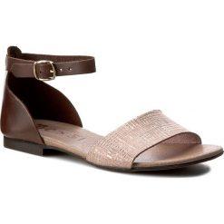 Sandały damskie: Sandały NESSI – 49204 Brąz/Róż