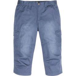 Spodnie bojówki 3/4 bonprix indygo. Niebieskie bojówki męskie bonprix. Za 89,99 zł.
