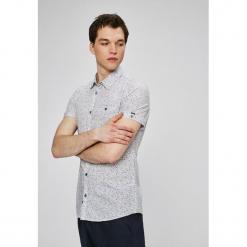 Medicine - Koszula Basic. Szare koszule męskie na spinki MEDICINE, l, z bawełny, z klasycznym kołnierzykiem, z krótkim rękawem. W wyprzedaży za 39,90 zł.