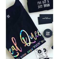 Bluzki asymetryczne: Koszulka Real Queen (czarna)
