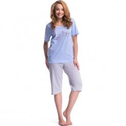 Piżama w kolorze niebiesko-szarym - koszulka, spodnie. Niebieskie piżamy damskie Doctor Nap, m. W wyprzedaży za 72,95 zł.
