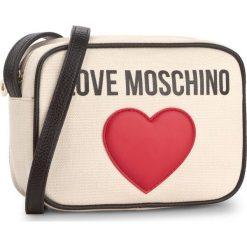 Listonoszki damskie: Torebka LOVE MOSCHINO - JC4138PP15L3010A  Naturale/Pebble Nero