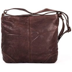 Torebki klasyczne damskie: Skórzana torebka w kolorze brązowym – 27 x 25 x 6 cm