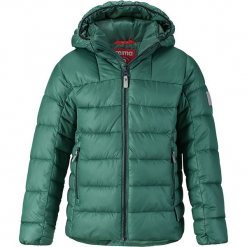 """Kurtka zimowa """"Petteri"""" w kolorze zielonym. Zielone kurtki chłopięce zimowe marki Reima. W wyprzedaży za 237,95 zł."""