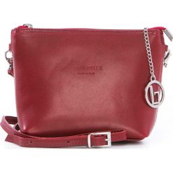 Torebki klasyczne damskie: Skórzana torebka w kolorze czerwonym – 20 x 16 x 6 cm