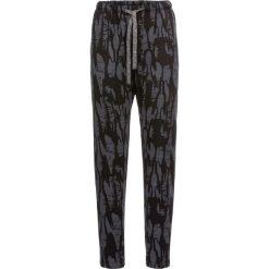 Spodnie dresowe damskie: Spodnie dresowe wzorzyste bonprix ciemnoszary