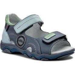Sandały MIDO - 324 Niebieski. Niebieskie sandały męskie skórzane Mido. W wyprzedaży za 119,00 zł.