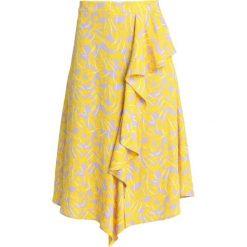 NORR ANASTACIA SKIRT Długa spódnica yellow. Żółte długie spódnice NORR, xl, z materiału. Za 459,00 zł.