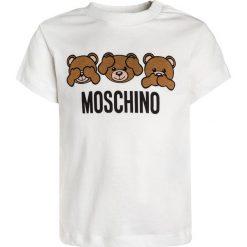 MOSCHINO BABY  Tshirt z nadrukiem cloud. Białe t-shirty damskie MOSCHINO, z nadrukiem, z bawełny. Za 189,00 zł.