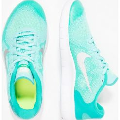 Nike Performance FREE RUN 2  Obuwie do biegania neutralne aurora green/metallic silver/clear jade/volt/white. Zielone buty sportowe chłopięce marki Nike Performance, z materiału, do biegania. W wyprzedaży za 213,85 zł.