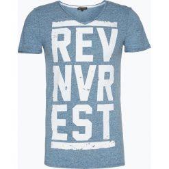 Review - T-shirt męski, niebieski. Niebieskie t-shirty męskie z nadrukiem marki Review. Za 59,95 zł.