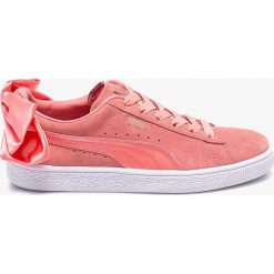 Puma - Buty Suede Bow. Szare buty sportowe damskie marki adidas Originals, z gumy. W wyprzedaży za 299,90 zł.