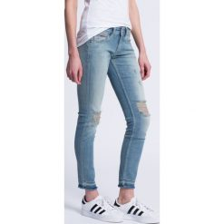 Hilfiger Denim - Jeansy Sophie. Niebieskie jeansy damskie marki Hilfiger Denim, z bawełny, z obniżonym stanem. W wyprzedaży za 269,90 zł.